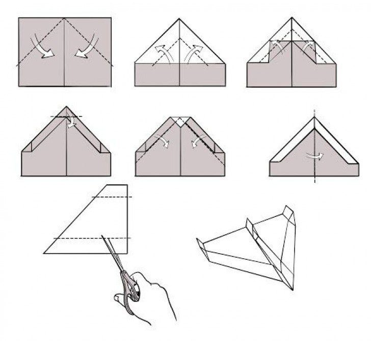 009 Breathtaking Printable Simple Paper Airplane Instruction High Resolution  Plane728