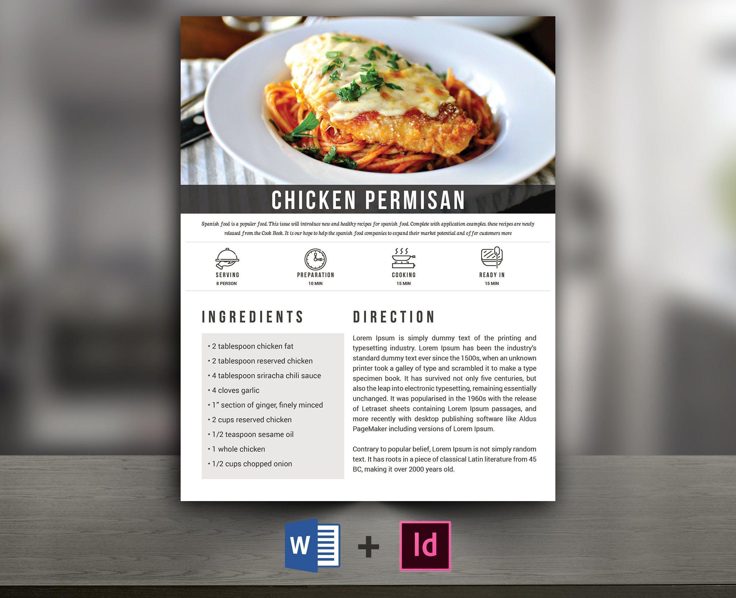 009 Breathtaking Recipe Book Template Word Sample  Mac Free MicrosoftFull