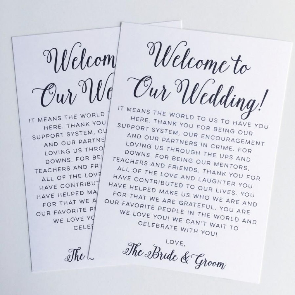 009 Breathtaking Wedding Welcome Bag Letter Template Free Example Large