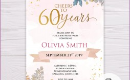 009 Dreaded 60th Birthday Invitation Template High Def  Card Free Download