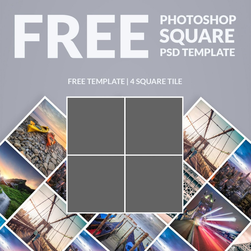 009 Dreaded Free Photoshop Collage Template Example  Templates Psd Download Photo For ElementLarge
