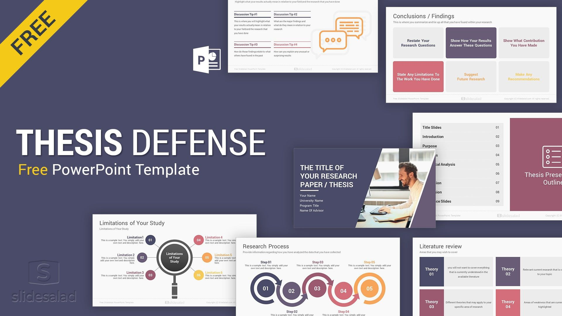 009 Dreaded Free Powerpoint Template Design Concept  For Student Food BusinesFull