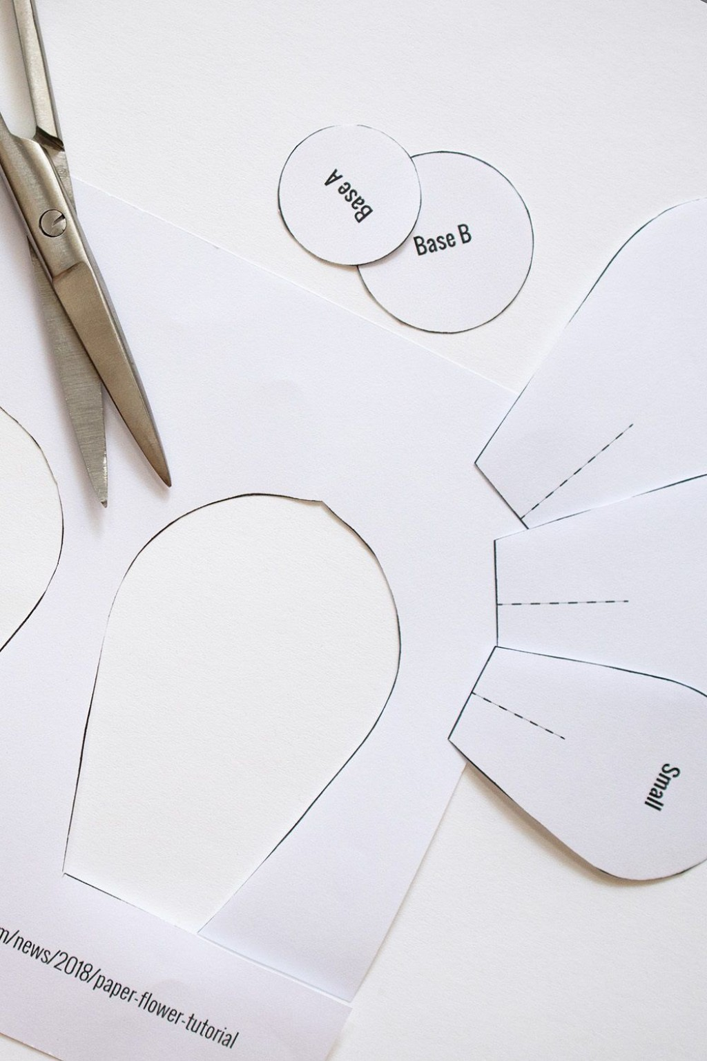 009 Dreaded Free Printable Diy Paper Flower Template Image  TemplatesLarge