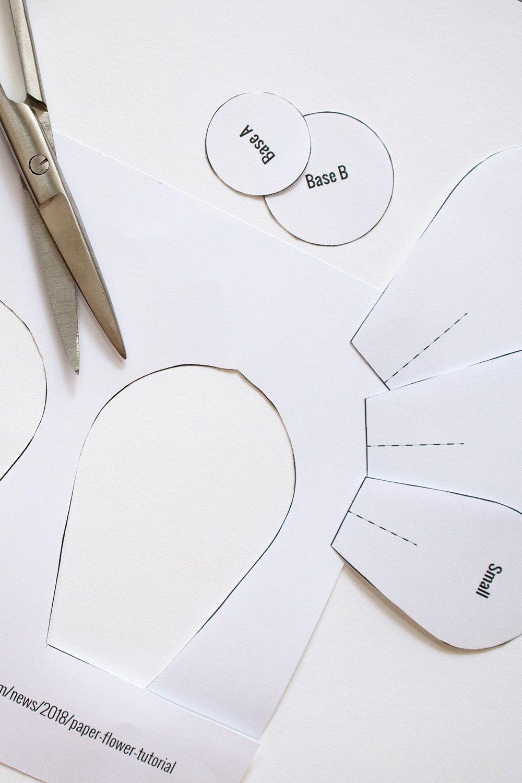 009 Dreaded Free Printable Diy Paper Flower Template Image  TemplatesFull