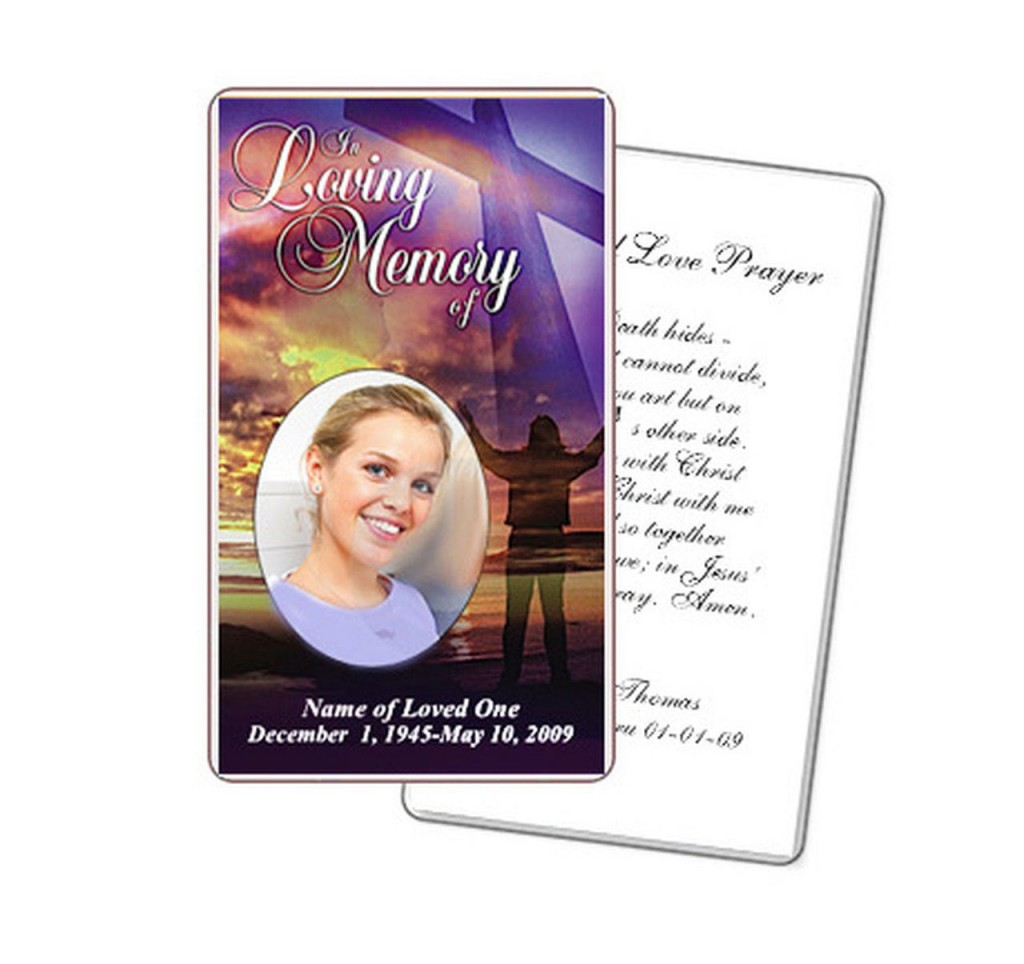 009 Dreaded Funeral Prayer Card Template Picture  Templates For Word FreeLarge