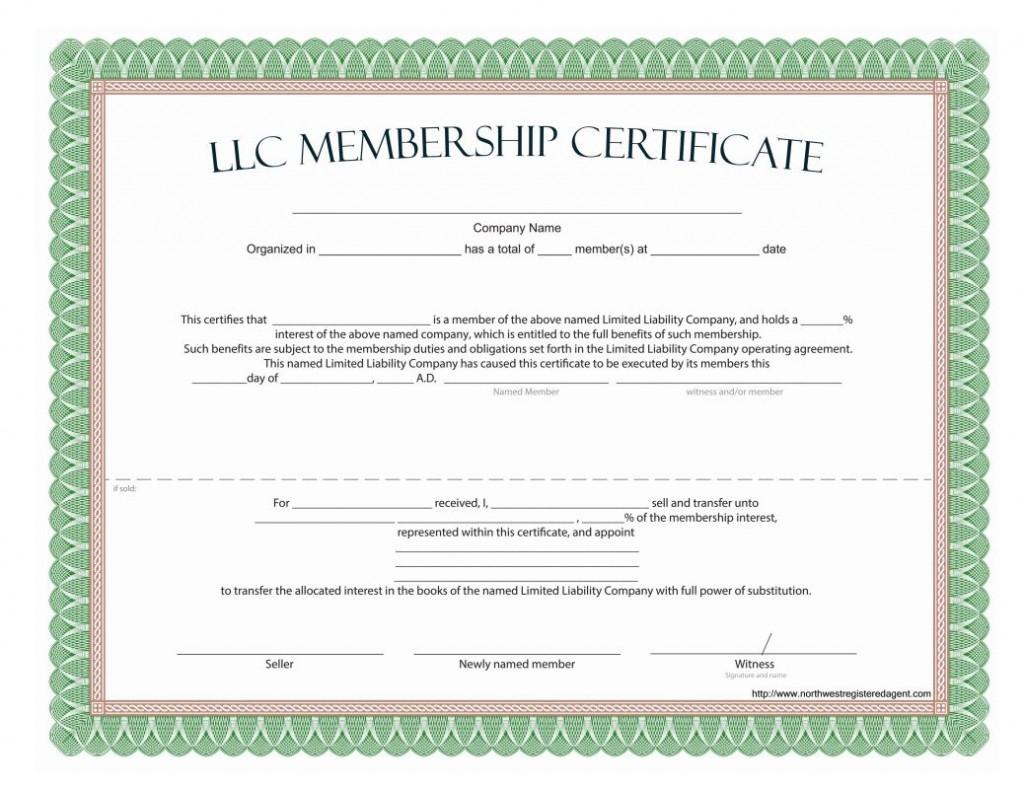 009 Dreaded Llc Membership Certificate Template Highest Clarity  Interest Free MemberLarge