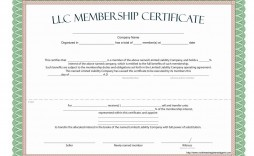 009 Dreaded Llc Membership Certificate Template Highest Clarity  Interest Free Member