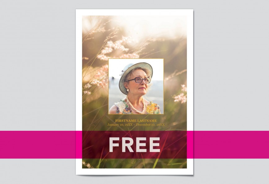 009 Dreaded Memorial Card Template Free Download Photo
