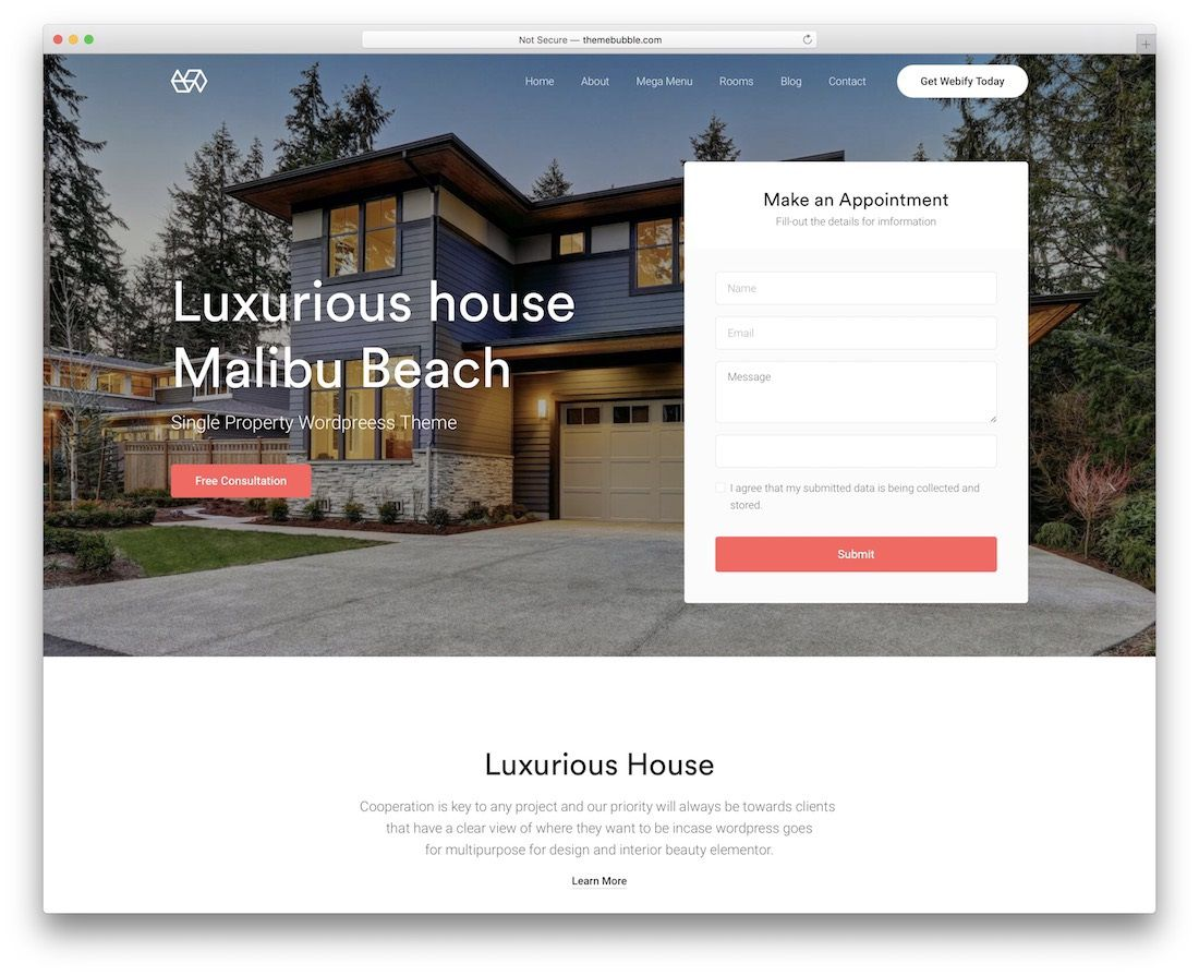 009 Dreaded Real Estate Template Wordpres Design  Homepres - Theme Free Download RealtyspaceFull