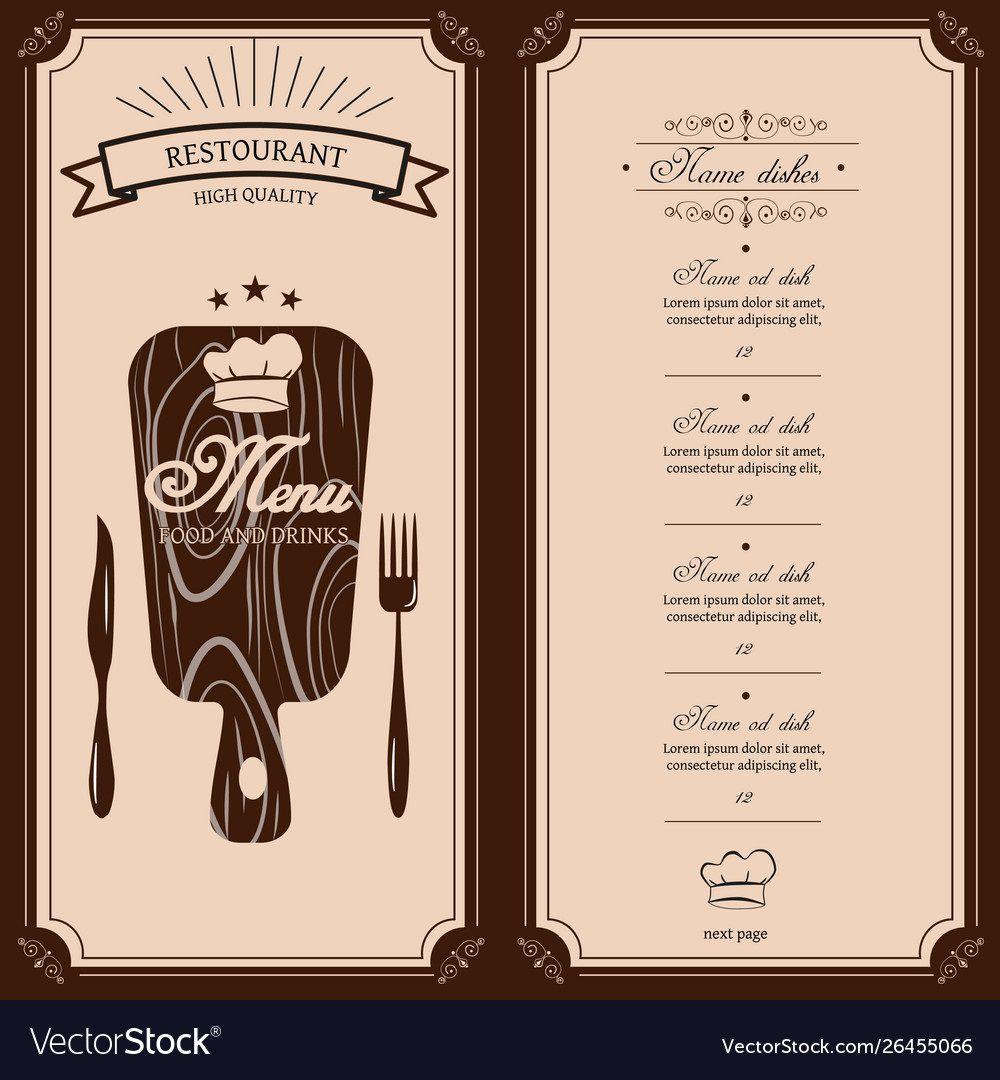 009 Dreaded Restaurant Menu Template Free Idea  Card Download Indesign WordFull