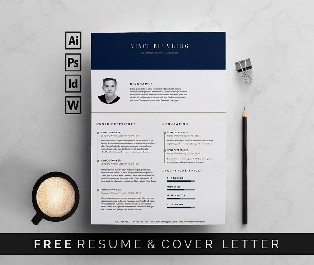 009 Dreaded Resume Template Free Word Picture  Download 2020 CvLarge