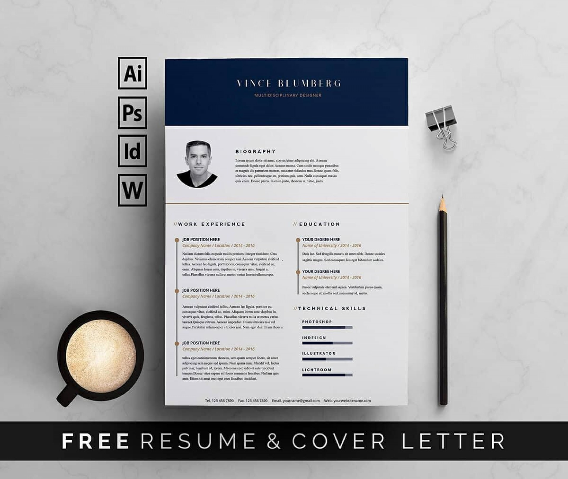 009 Dreaded Resume Template Free Word Picture  Download 2020 Cv1920