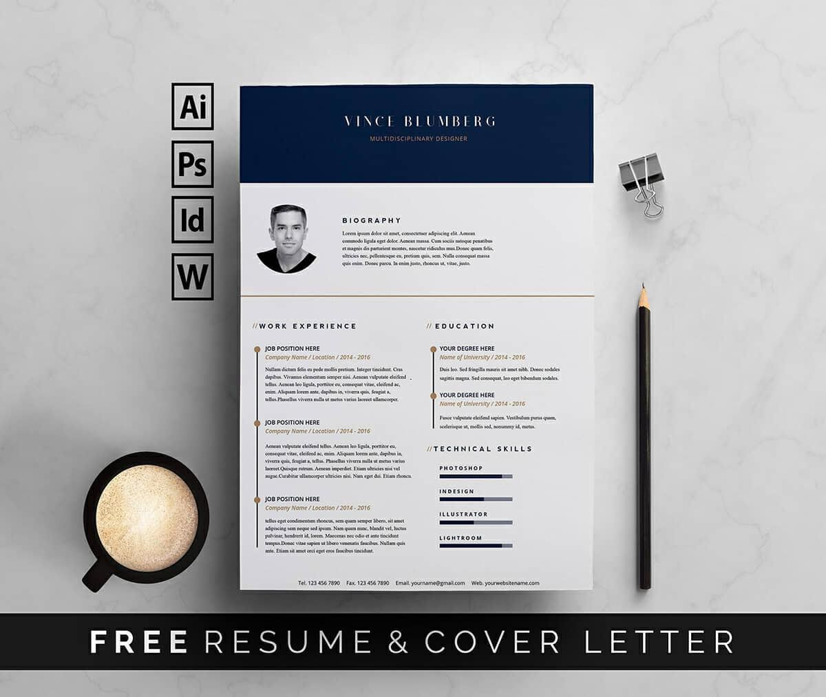 009 Dreaded Resume Template Free Word Picture  Download Cv 2020 FormatFull