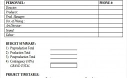 009 Dreaded Short Film Budget Template Example  Bfi Simple