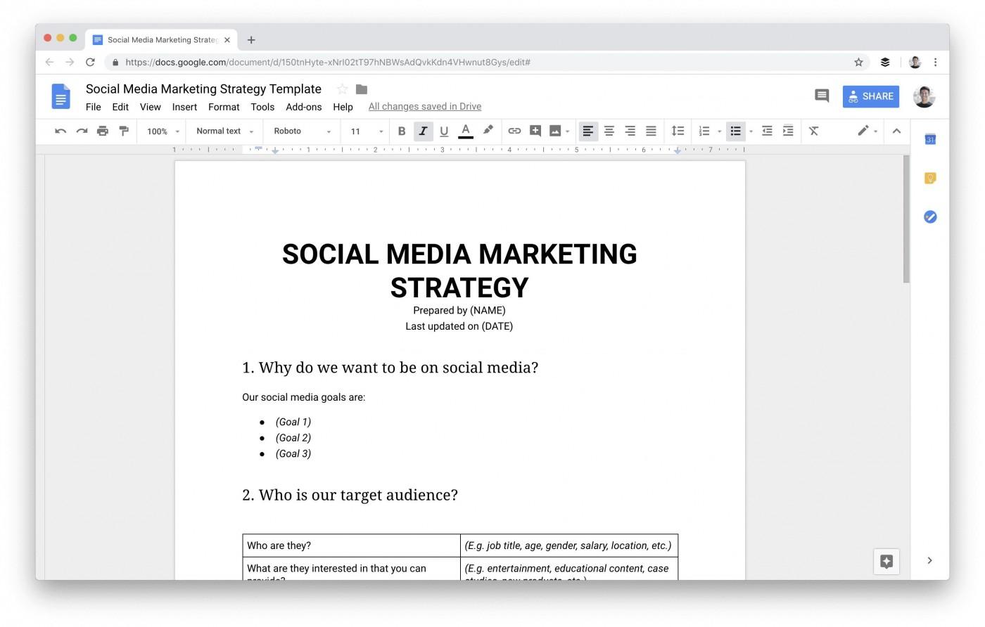 009 Dreaded Social Media Plan Template Sample  Free Download Ppt Marketing Excel1400