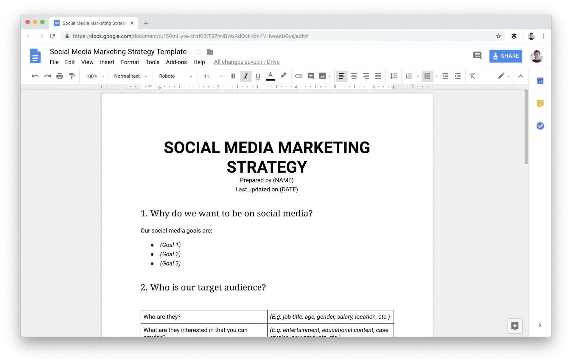 009 Dreaded Social Media Plan Template Sample  Free Download Ppt Marketing Excel1920