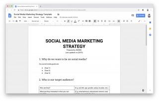 009 Dreaded Social Media Plan Template Sample  Free Download Ppt Marketing Excel320