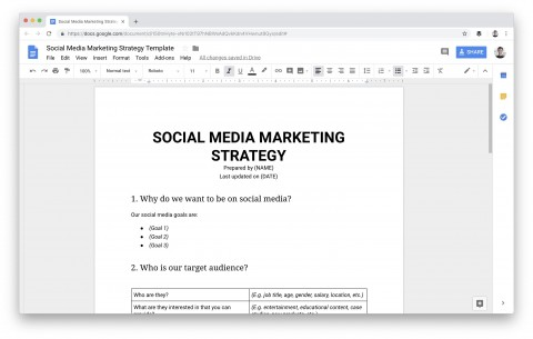 009 Dreaded Social Media Plan Template Sample  Free Download Ppt Marketing Excel480