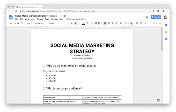 009 Dreaded Social Media Plan Template Sample  Doc Download Marketing Excel728