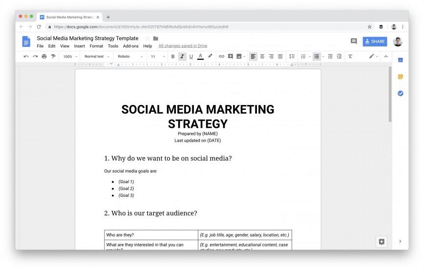 009 Dreaded Social Media Plan Template Sample  Doc Download Marketing Excel868