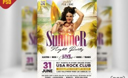 009 Dreaded Summer Party Flyer Template Free Download Sample
