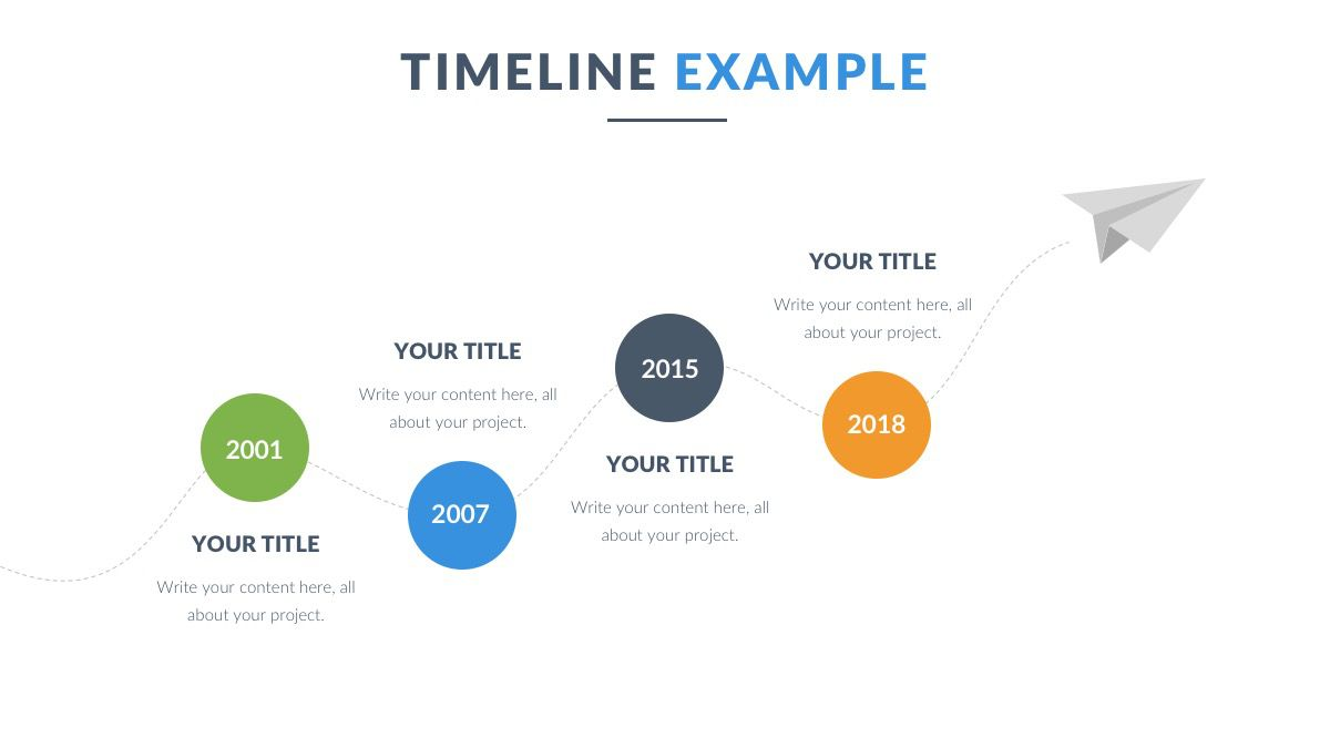 009 Dreaded Timeline Example Presentation Photo  Project Slide TemplateFull