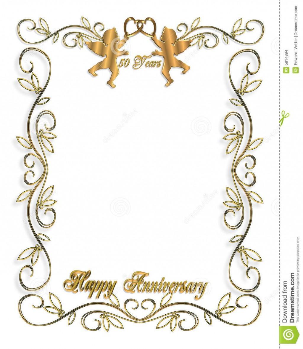 009 Excellent 50th Wedding Anniversary Invitation Template Free Design  Download Golden Microsoft WordLarge