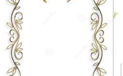 009 Excellent 50th Wedding Anniversary Invitation Template Free Design  Download Golden Microsoft Word