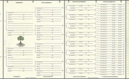009 Excellent 7 Generation Family Tree Template Sample  Blank Free Editable