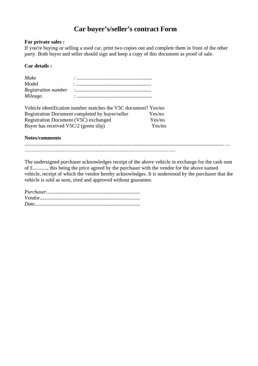 009 Excellent Car Rental Agreement Template South Africa Picture  Vehicle ContractLarge