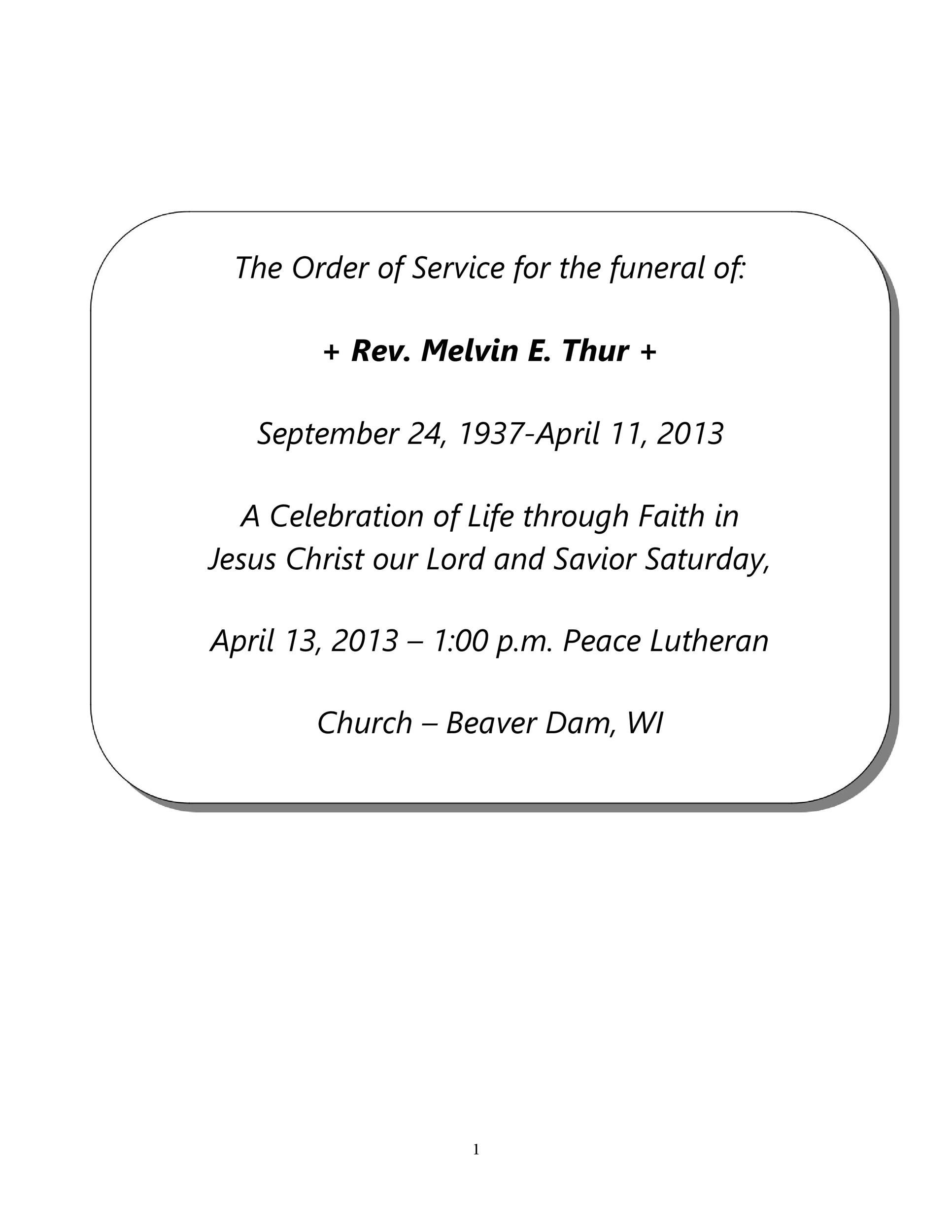 009 Excellent Celebration Of Life Template Free Download Concept  InvitationFull