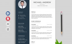 009 Excellent Cv Resume Word Template Free Download Concept  Curriculum Vitae