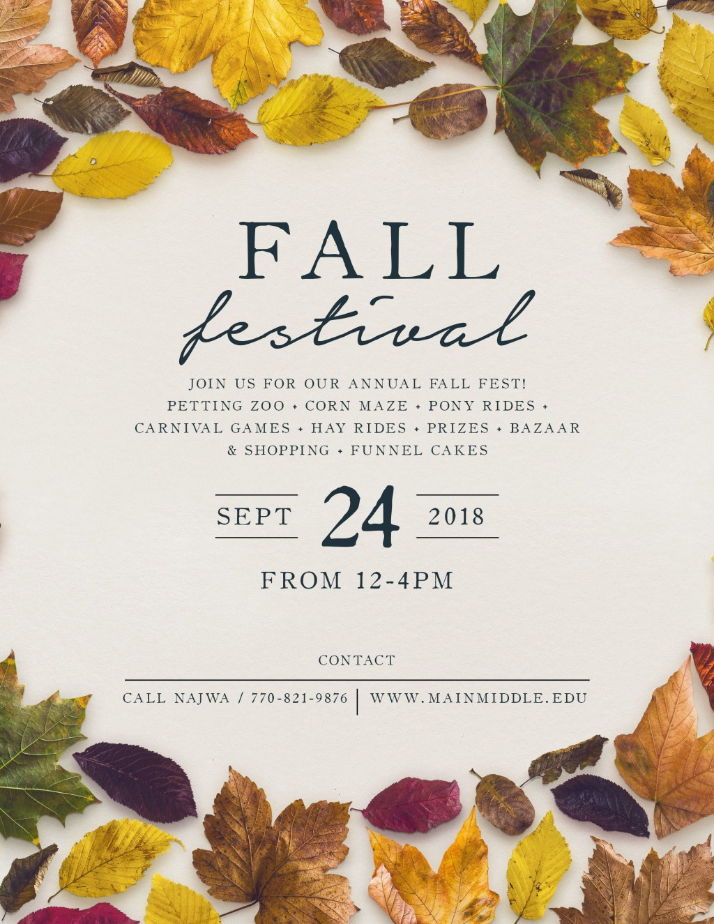 009 Excellent Fall Festival Flyer Template Picture  FreeLarge