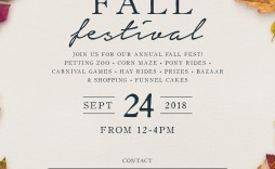 009 Excellent Fall Festival Flyer Template Picture  Free
