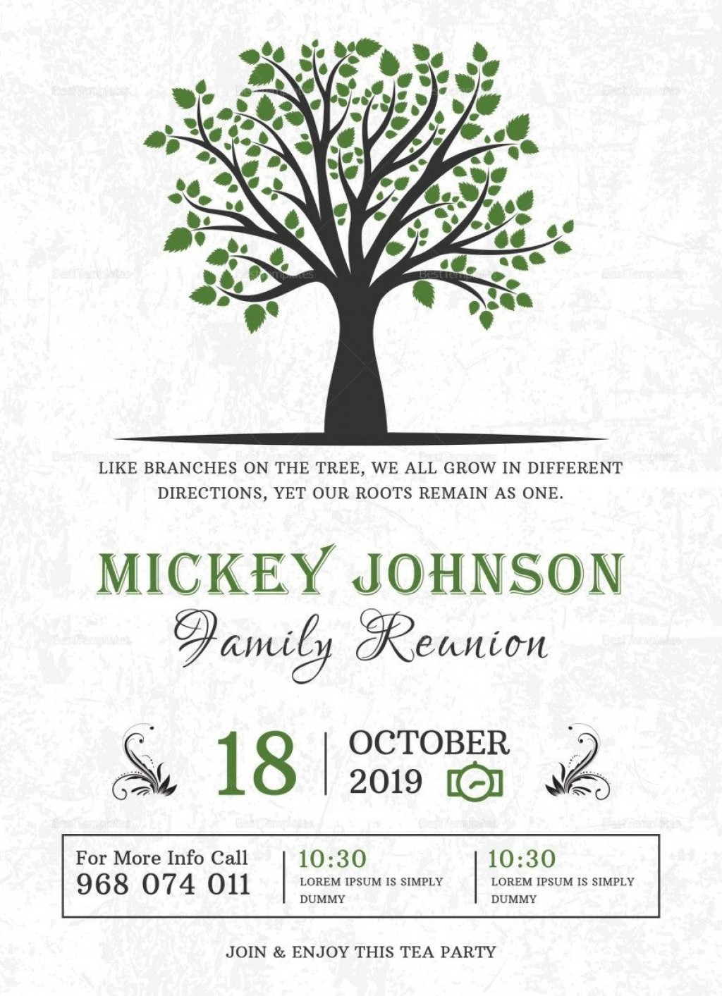 009 Excellent Family Reunion Invitation Card Template High Resolution Large
