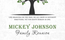 009 Excellent Family Reunion Invitation Card Template High Resolution