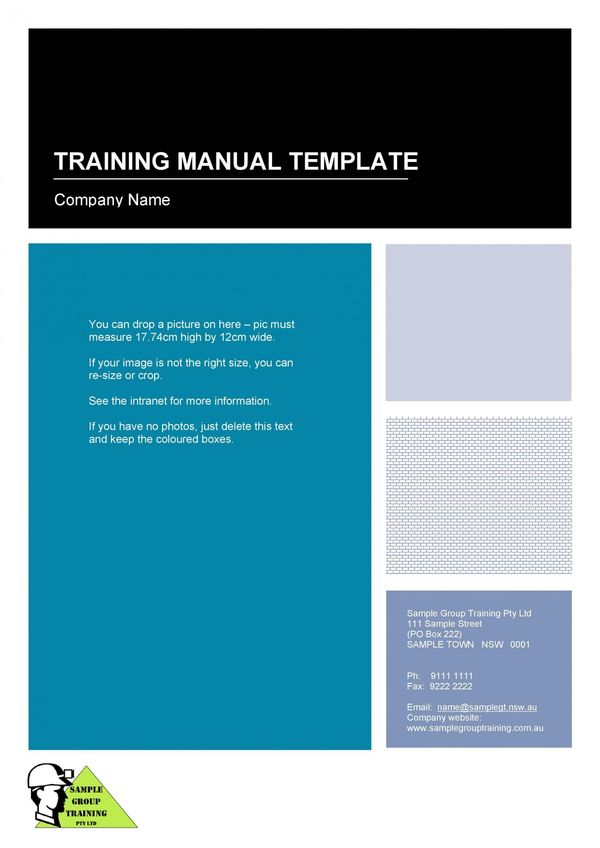 009 Excellent Free Employee Handbook Template Word High Def  Sample In Training Manual1920