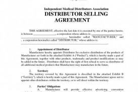 009 Excellent Free Exclusive Distribution Agreement Template Uk Example