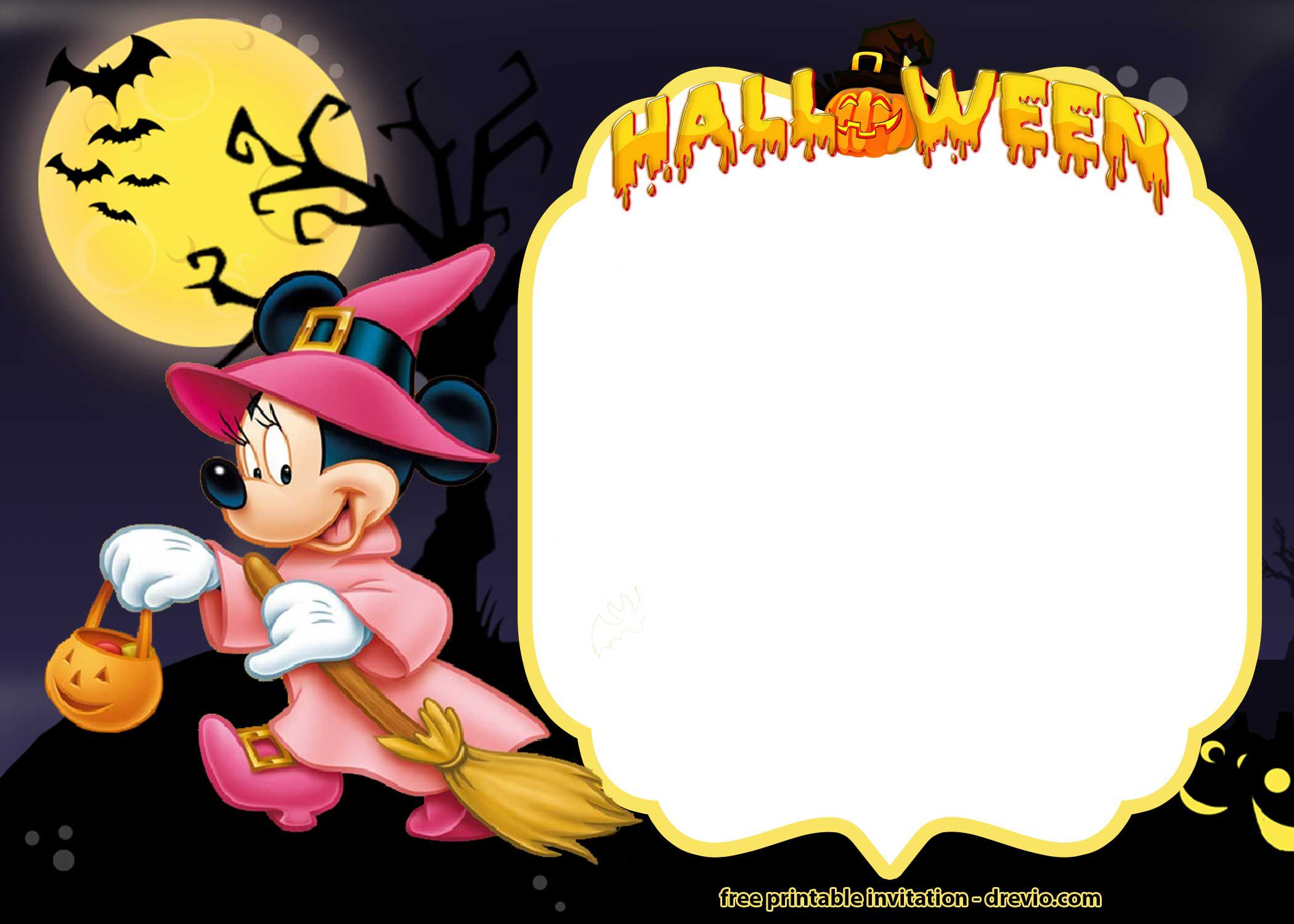 009 Excellent Free Halloween Invitation Template Idea  Templates Online Printable Birthday Party WeddingFull