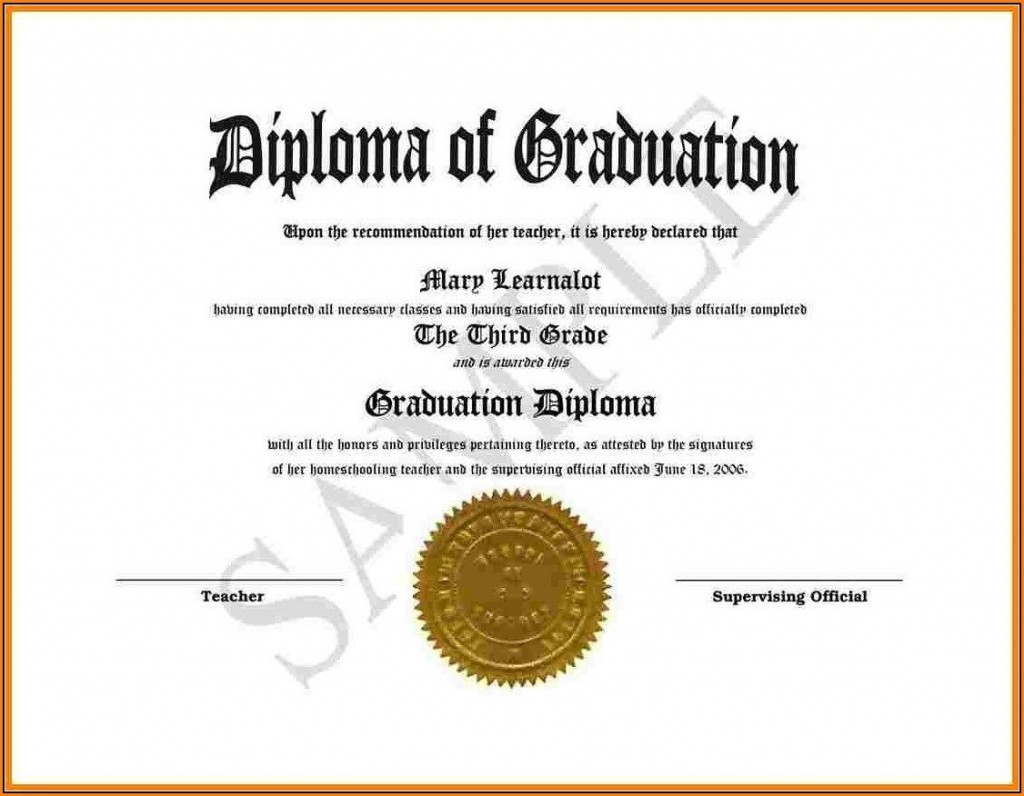 009 Excellent Free High School Diploma Template Image  Templates Print Out Editable PrintableLarge