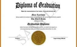 009 Excellent Free High School Diploma Template Image  Templates Print Out Editable Printable
