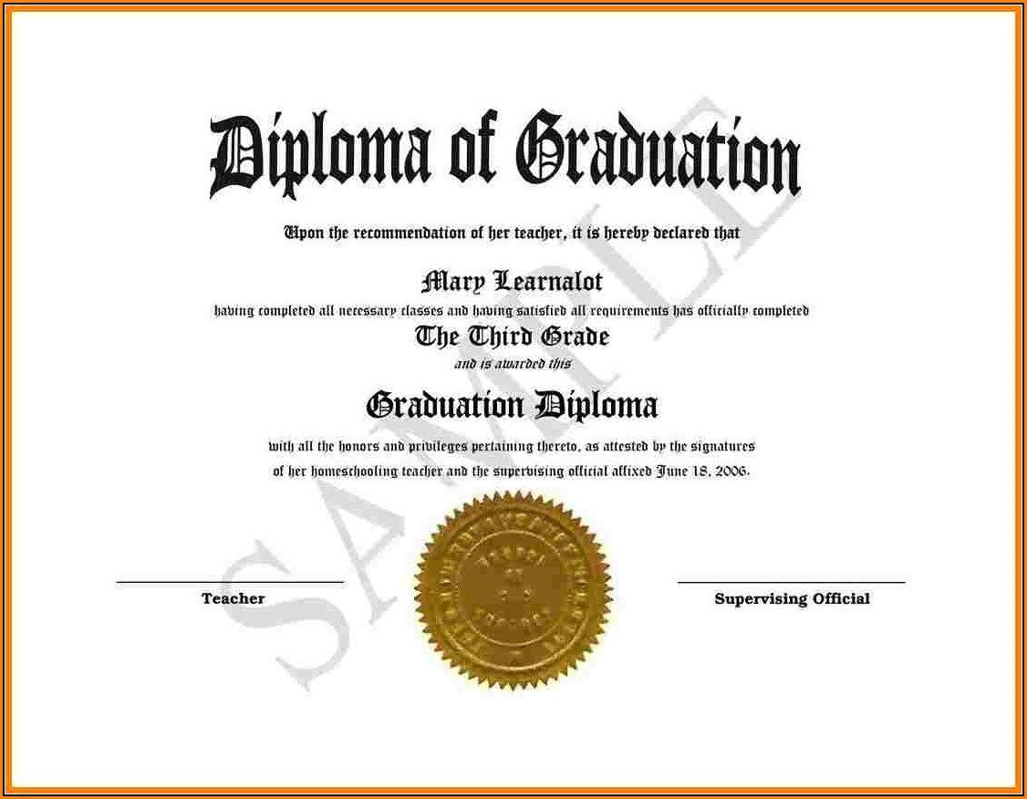 009 Excellent Free High School Diploma Template Image  Templates Print Out Editable PrintableFull