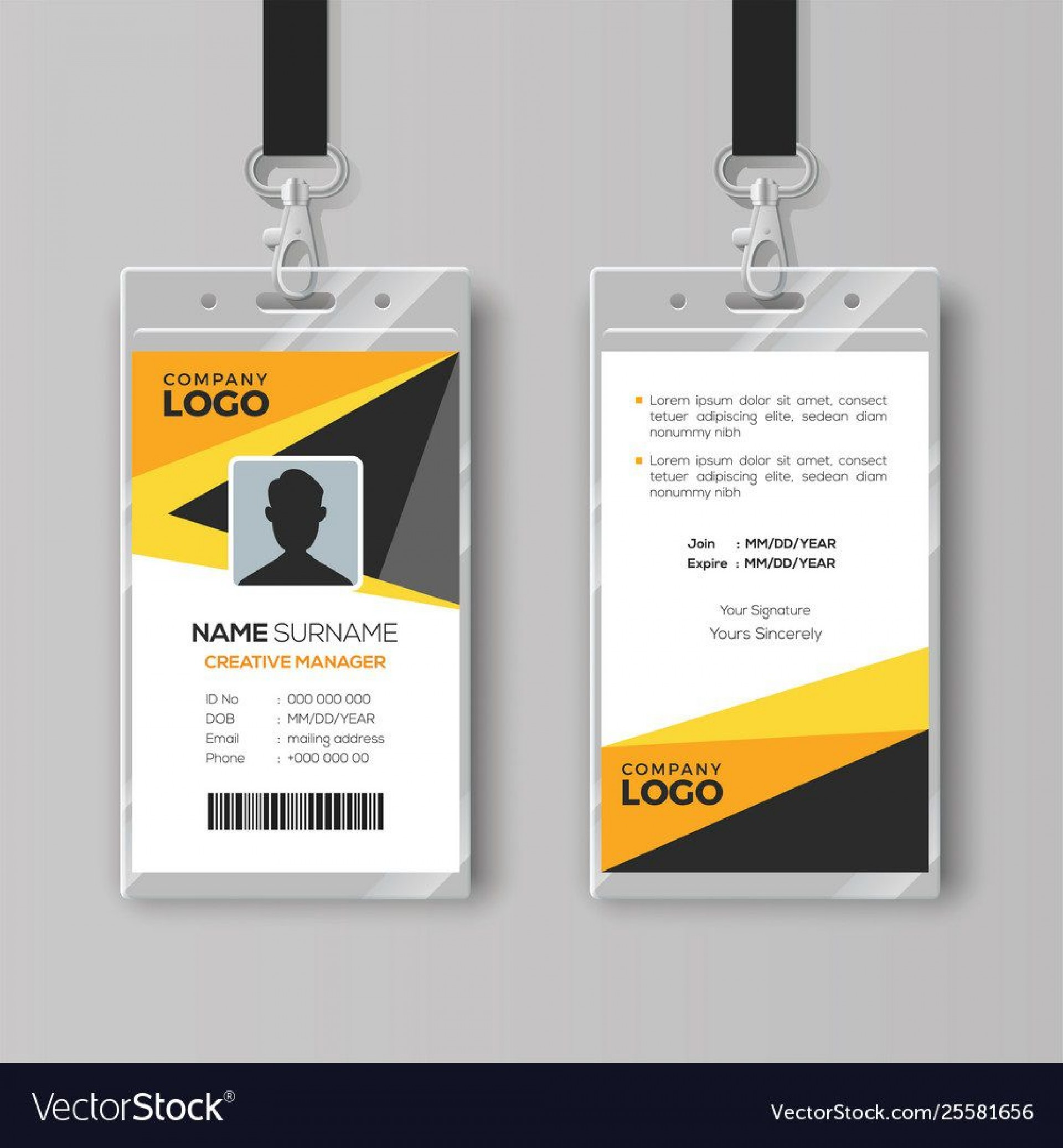009 Excellent Free Id Badge Template High Def  Templates Card Ai Uk Illustrator1920