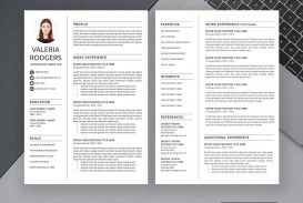 009 Excellent Free Printable Creative Resume Template Microsoft Word Inspiration