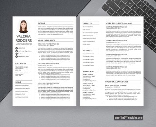 009 Excellent Free Printable Creative Resume Template Microsoft Word Inspiration 320