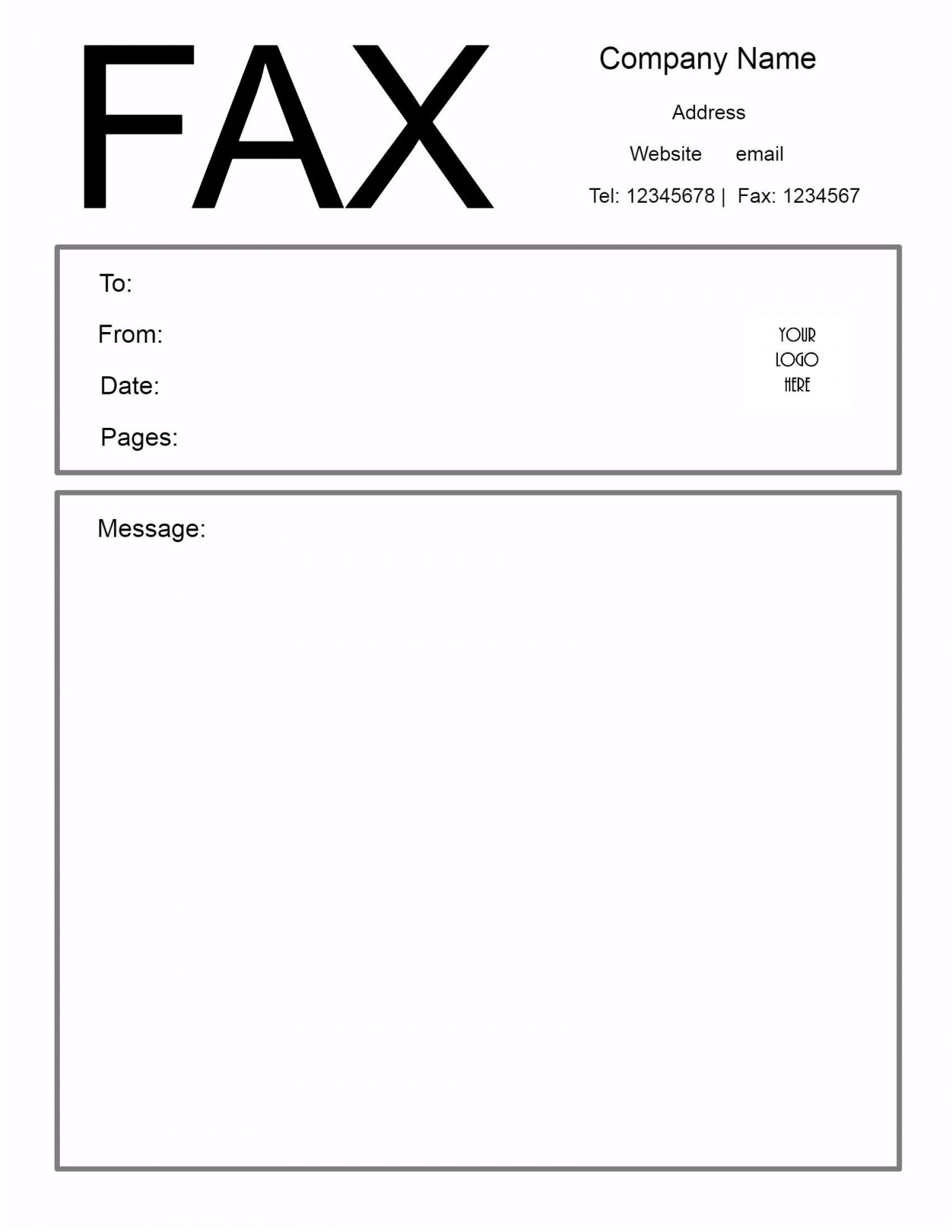 009 Excellent General Fax Cover Letter Template Highest Clarity  Sheet Word Confidential Example1400