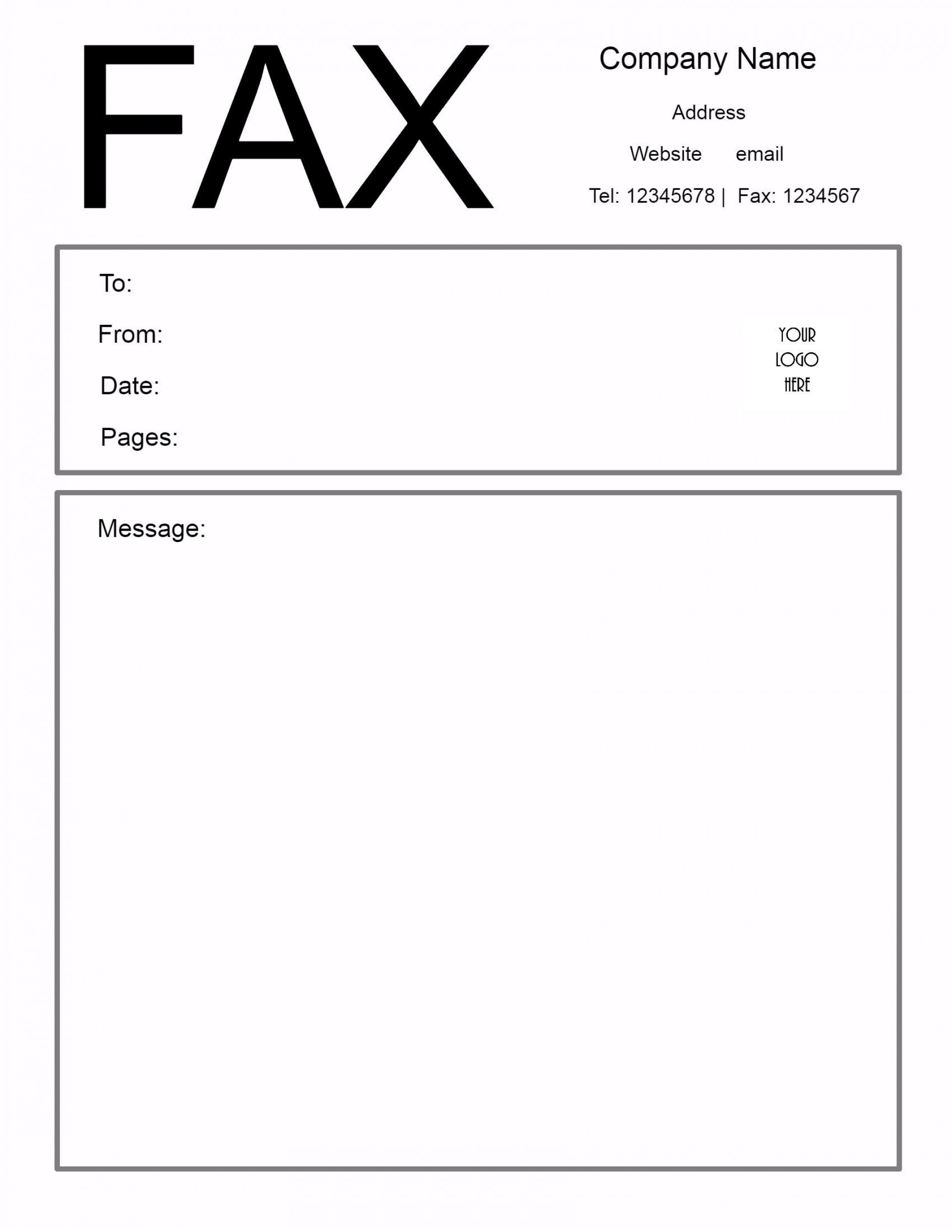 009 Excellent General Fax Cover Letter Template Highest Clarity  Sheet Word Confidential Example1920