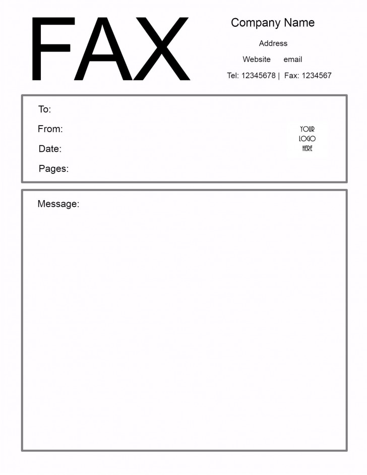 009 Excellent General Fax Cover Letter Template Highest Clarity  Sheet Word Confidential Example728