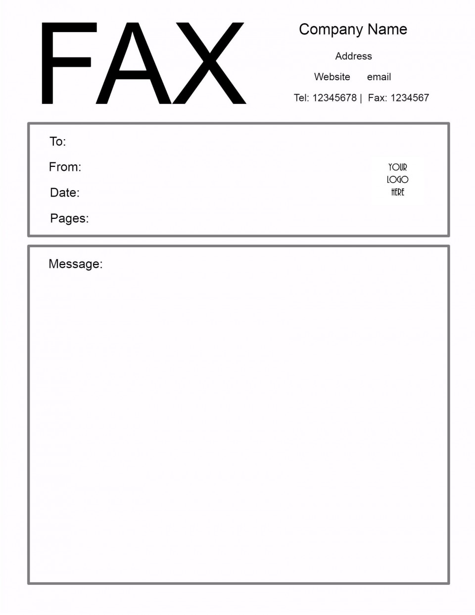 009 Excellent General Fax Cover Letter Template Highest Clarity  Sheet Word Confidential Example960