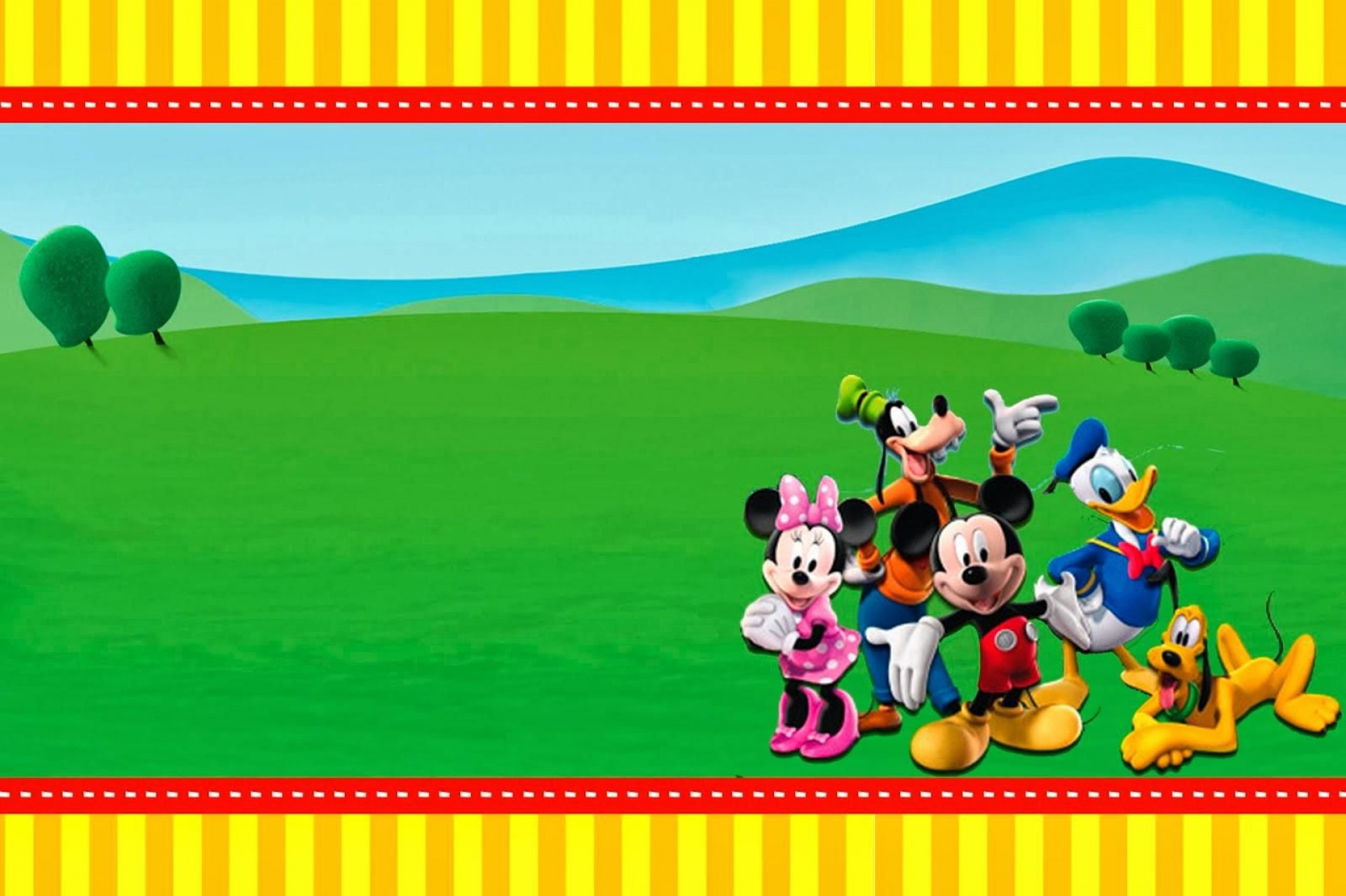 009 Excellent Mickey Mouse Invitation Template High Def  Free Diy 1st Birthday Baby Download1920